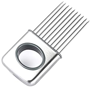 CJESLNA Easy Onion Holder Slicer Vegetable Tools Tomato Cutter Stainless Steel Kitchen Gadgets