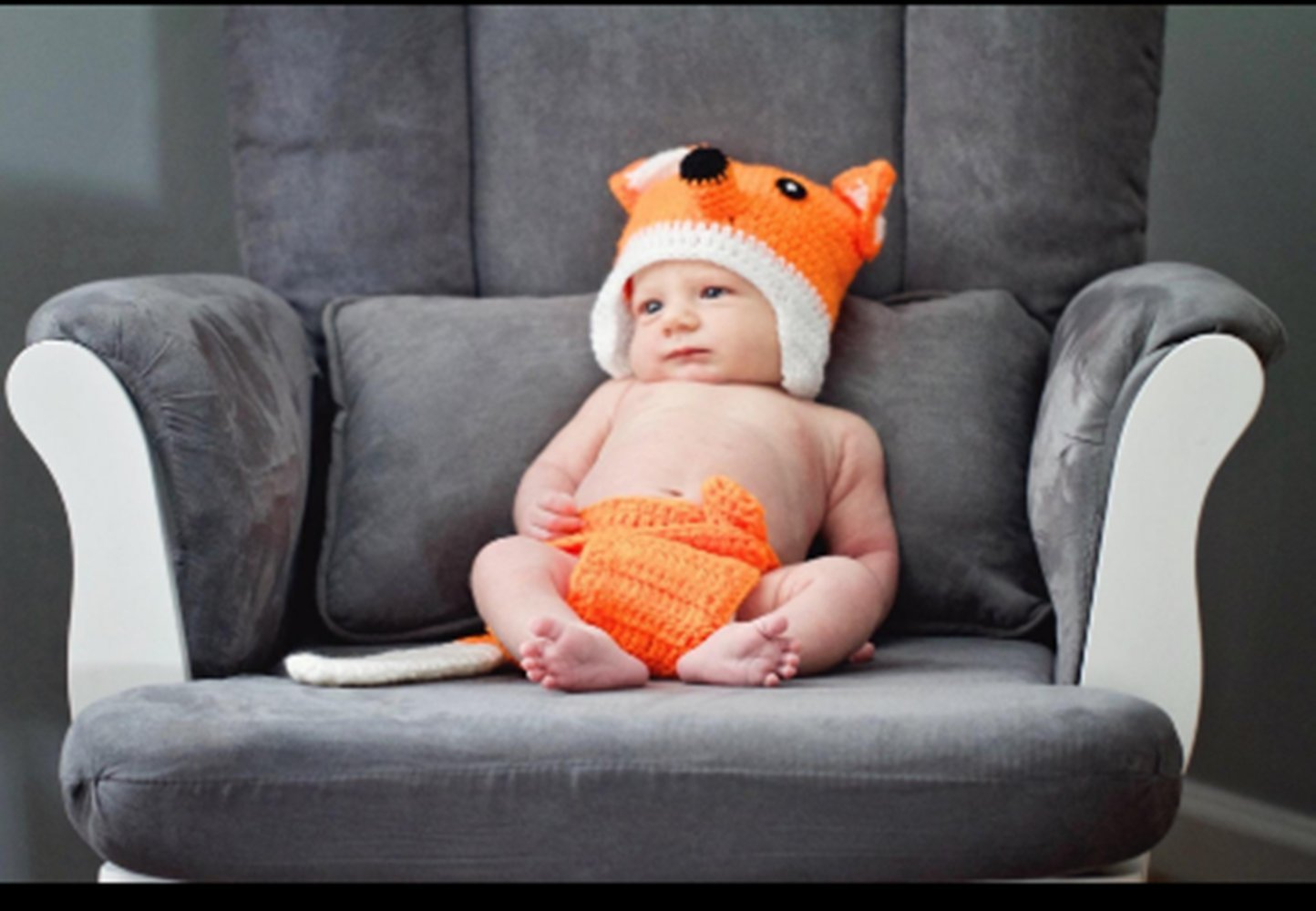 Eyourhappy Newborn Baby Handmade Crochet Knitted Photography Props Fox Hat Diaper Pant Outfit by Eyourhappy