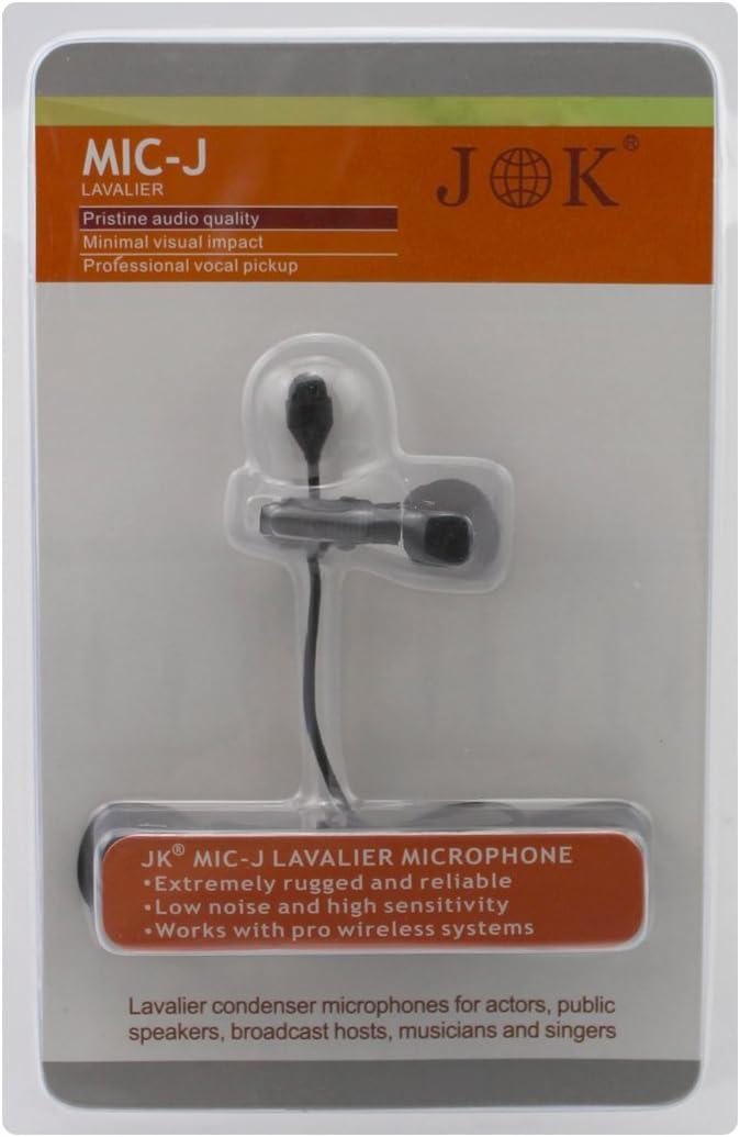 JK MIC-J 044 Lapel Microphone Lavalier Microphone Compatible with AKG SAMSON Wireless Transmitter