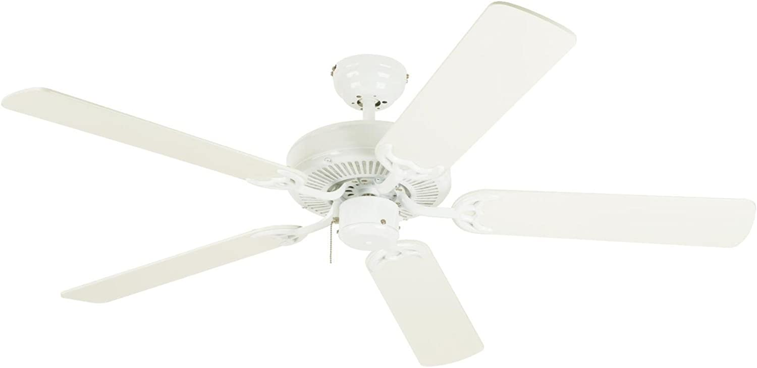 Westinghouse Lighting 7802400 Downrod Mount 5 White Blades Ceiling Fan White Ceiling Fans Without Lights Amazon Com