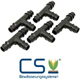 5er Set T-Verbinder 1/2 Zoll für CS Perlschlauch Premium - Profi - Drucklos