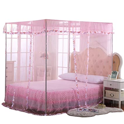 Amazoncom Jqwupup Mosquito Net For Bed 4 Corner Canopy For Beds