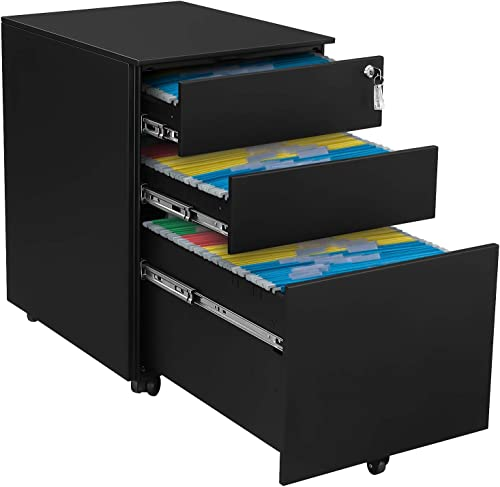 Ootori 3-Drawer Mobile Letter File Cabinet