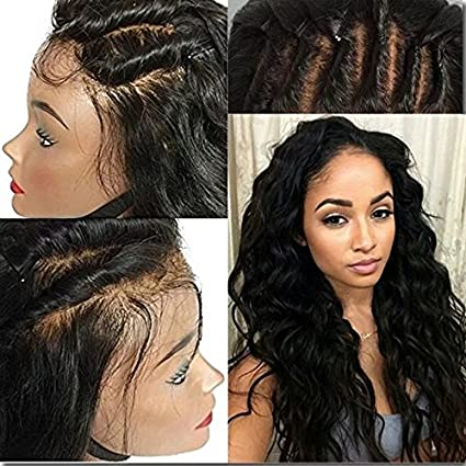 Full Lace Wig For Black Women Brazilian Ombre Wigs Lace Front Human Hair Pelucas Loose Body