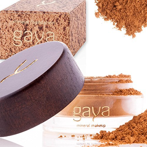Mineral Make up Foundation vegan Makeup Puder - Einzigartige 4 in 1 MF7 Schattierung, 100% natürlich multipurpose volle Abdeckung für alle Hauttypen - Foundation, Concealer, Puder & Sonnenschutz in einer 9g Dose