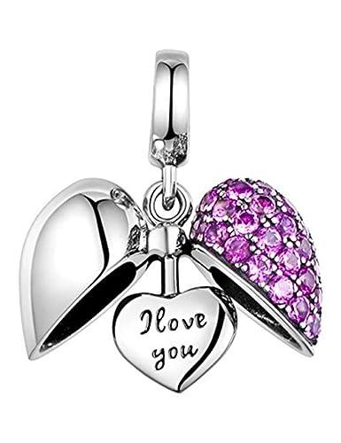 comprare popolare c4fec 9b66f I Love You Cuore Charm in Argento Sterling S925 per Bracciale ...