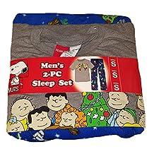 Peanuts Charlie Brown Snoopy 2 Piece Pajama Sleep Set - Large