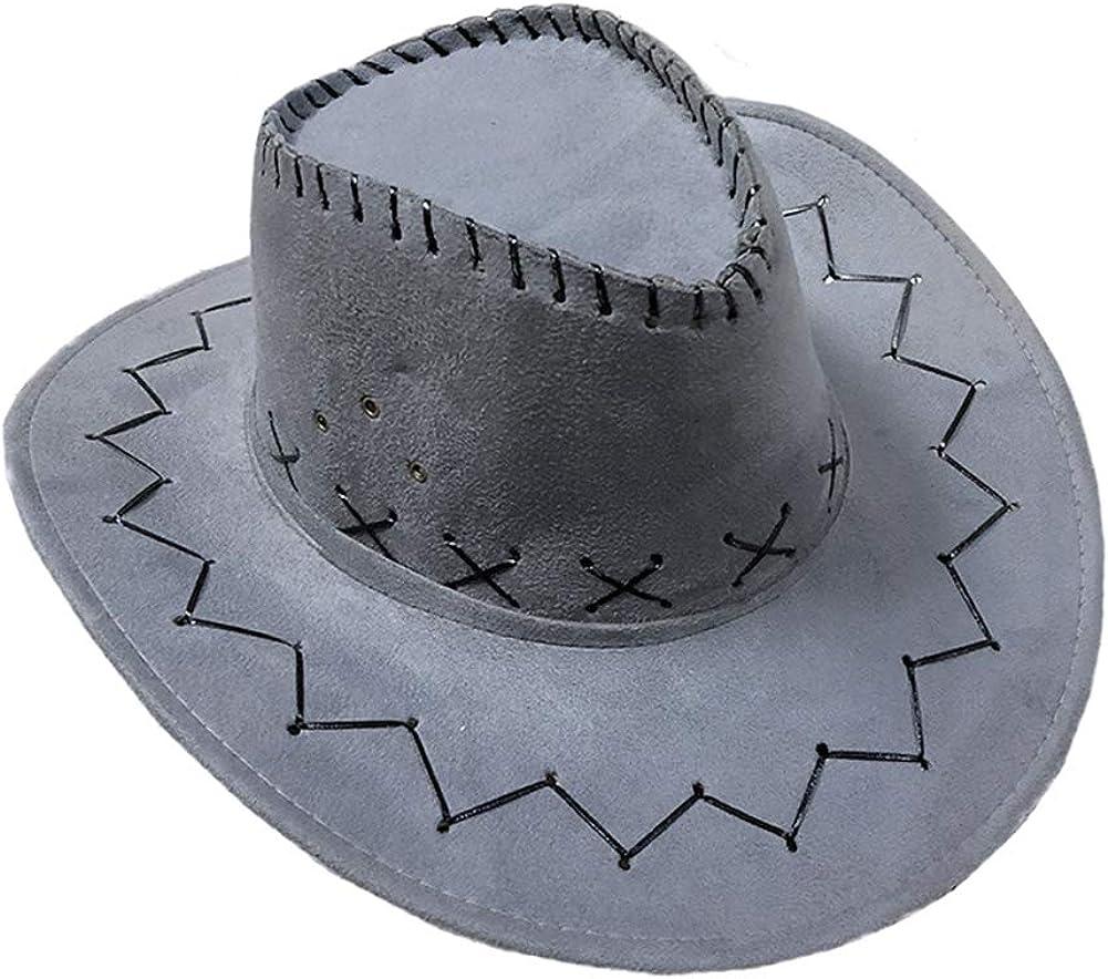 Boomly Unisex Cowboy Hut Westernhut Jazz Cap Schirmm/ütze Sommer im Freien Reisekappe Sonnenhut Mit breiter Krempe