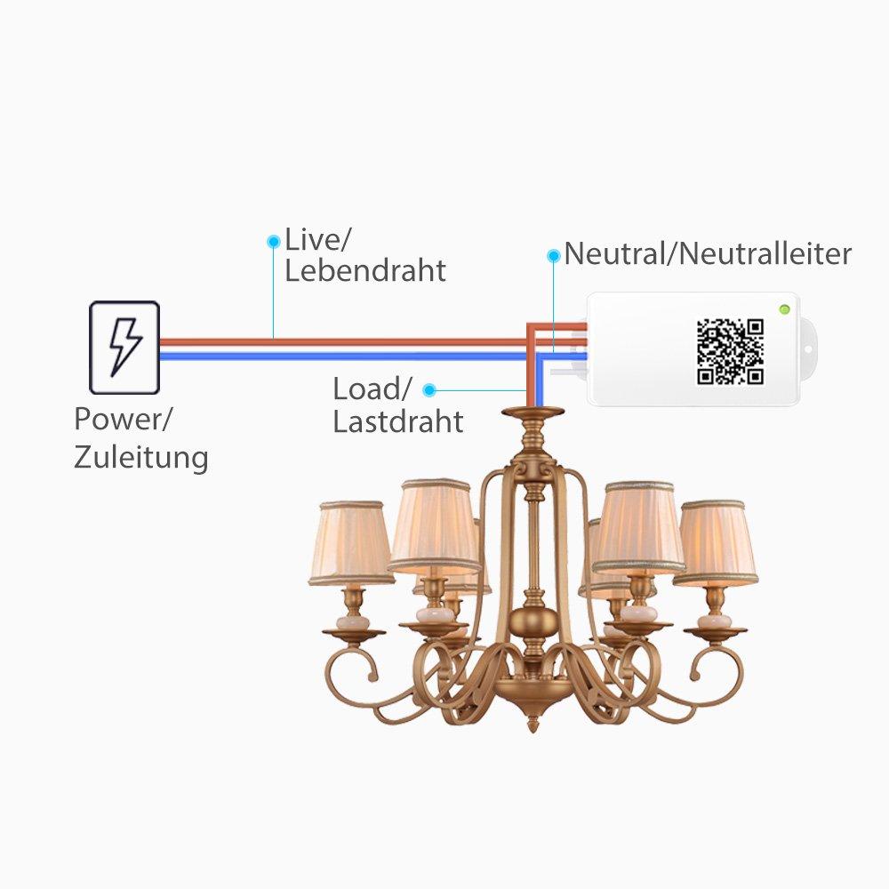Wunderbar Wo Geht Der Neutralleiter Auf Einen Lichtschalter Galerie ...
