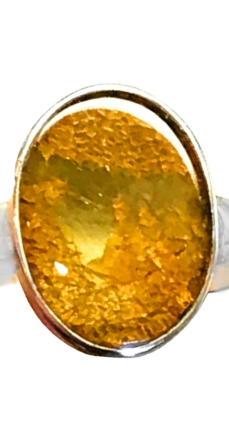 silver 925 sterling Real Baltic Amber Genuine Baltic Round Amber Ring Gift for woman 7 Ring Baltic Amber Milk Natural 17.5