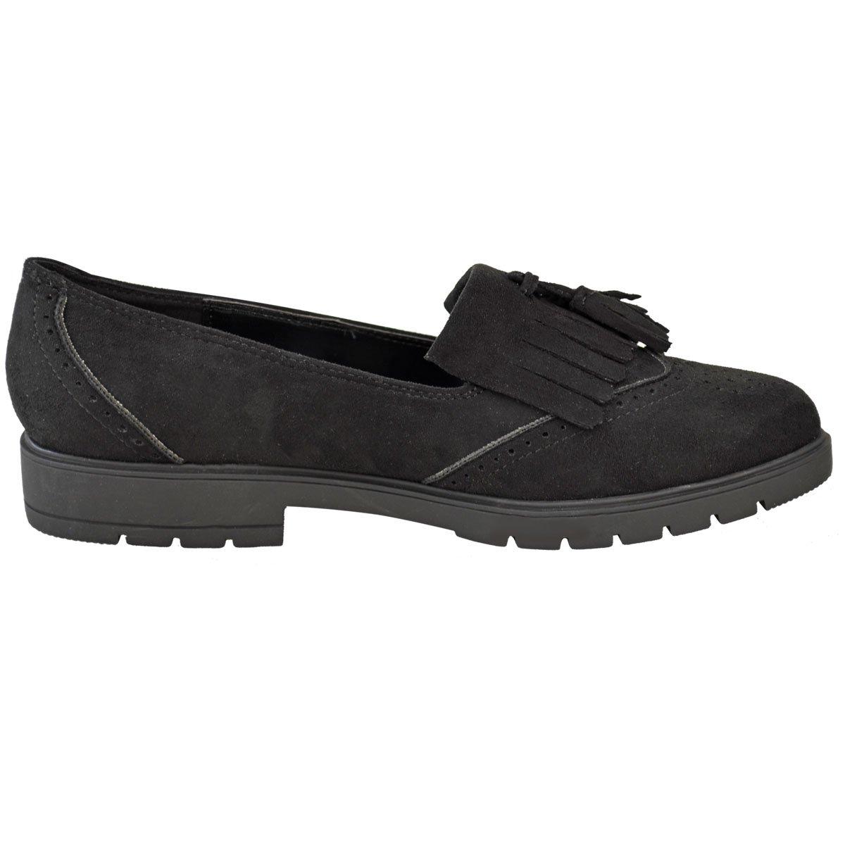 Plano Mujer Informal Zapatos Oxford Oficina con Flecos Mocasines Zapatos de Colegio Talla: Amazon.es: Zapatos y complementos