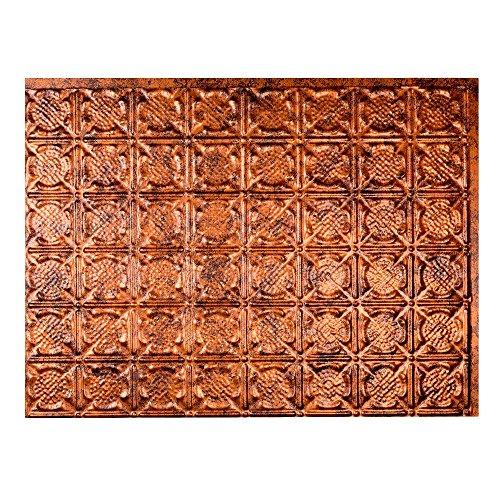 Tin Backsplash - Fasade Easy Installation Traditional 6 Moonstone Copper Backsplash Panel for Kitchen and Bathrooms (18