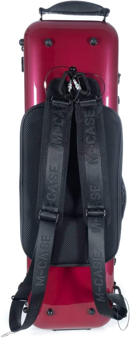 /Étui pour violon en fibre de verre Safe Oblong 4//4 burgundy shiny M-Case Music bag
