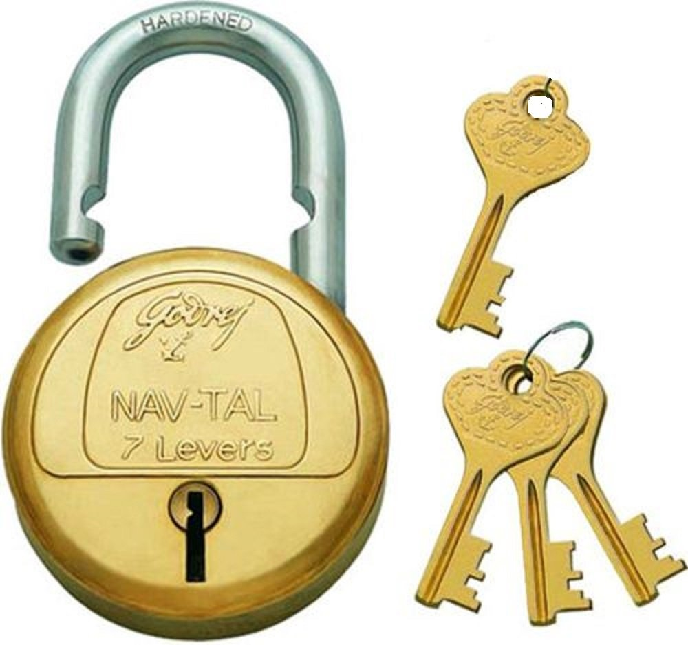 Godrej Nav-Tal 7 Levers 4 Keys Padlock product image