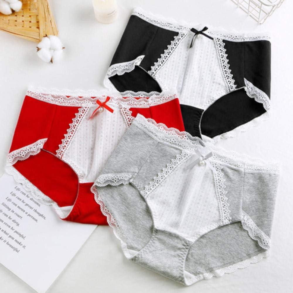 JFHGNJ Calzoncillos de algodón para Mujer Bragas Lindas japonesas Tallas Grandes Bragas de algodón con Lazo de Encaje Sexy Ropa Interior de Talla Grande 5XL 7XL-Negro Rojo Gris_7XL: Amazon.es: Deportes y aire