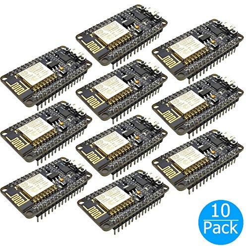 10-pack EEEkit New Version ESP8266 NodeMCU LUA CP2102 ESP-12E Internet WIFI Development Board Open source Serial Wireless Module Works Great with Arduino IDE/Micropython by EEEKit