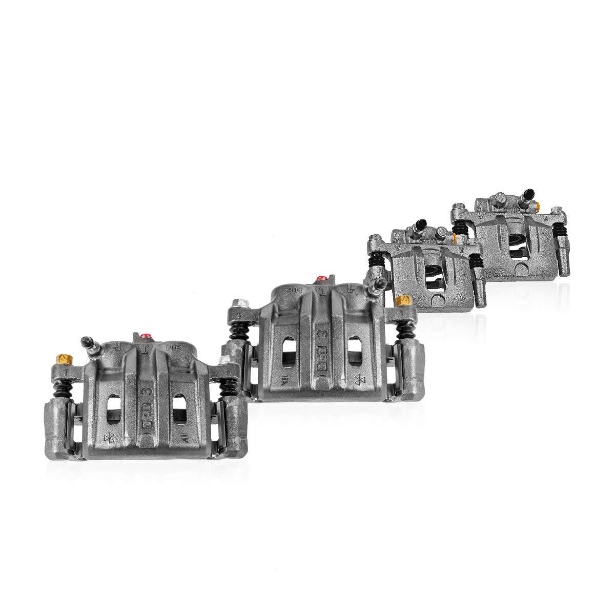 Callahan CCK04718 [4] FRONT + REAR Premium Original Brake Calipers + Hardware Kit [ Terraza Uplander Montana Relay ] Callahan Brake Parts