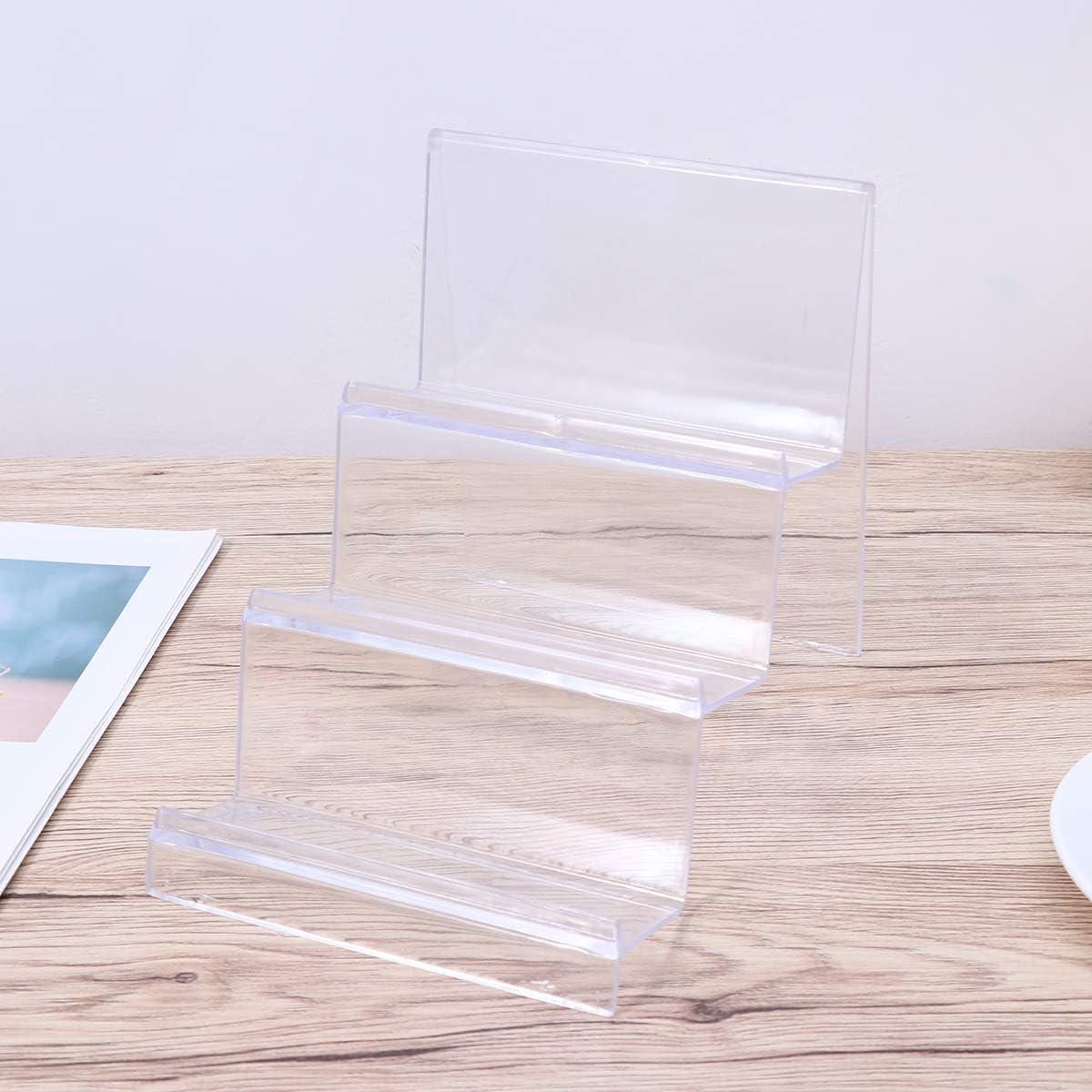 TOPBATHY Pr/ésentoir /à Bijoux en Acrylique Transparent /à 3 Niveaux pour Sac /à Main