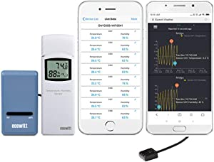 ECOWITT GW1004 Wi-Fi Weather Station Gateway with Wireless Multi-Channel Temperature and Humidity Sensor