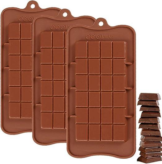 3 Stück Schokoladenform Silikonbackform für Schokolade Pralinenform Silikon DIY
