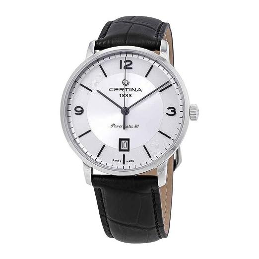 Certina DS Caimano C035.407.16.037.00 - Reloj automático para Hombre, Esfera Plateada: Amazon.es: Relojes