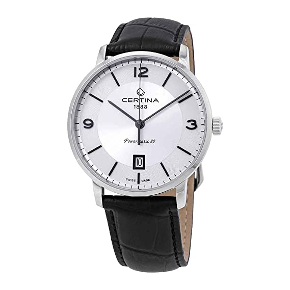 Certina DS Caimano C035.407.16.037.00 - Reloj automático para Hombre, Esfera Plateada
