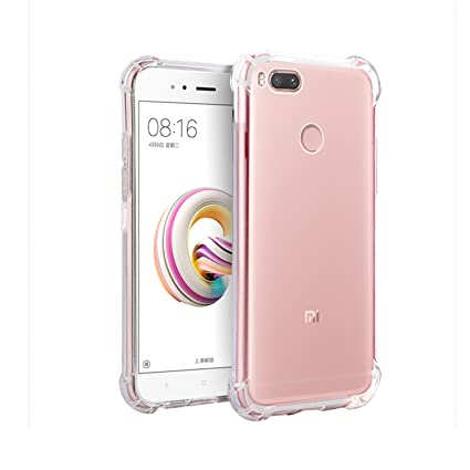 brand new dd9dc 673b8 SHOPWAY™Xiaomi Mi A1 Back Cover, Flexible TPU Gel Rubber Soft Silicone  Protective Transparent Cover (Four Corner Protection, Clear)
