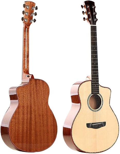 Guitarra Llena De Placa Única De 36 Pulgadas Mini Spruce Guitarra Eléctrica De Caoba Caja De Las Señoras De Los Niños Viaje Musical De La Guitarra Guitarra Instrumento: Amazon.es: Deportes y aire