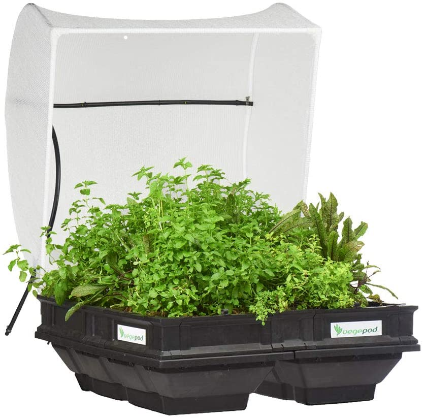 Raised Garden Bed Kit Container with Protective Cover Self Watering 1m x 1m 39.4in x 39.4in Vegepod Medium Easy Assembly
