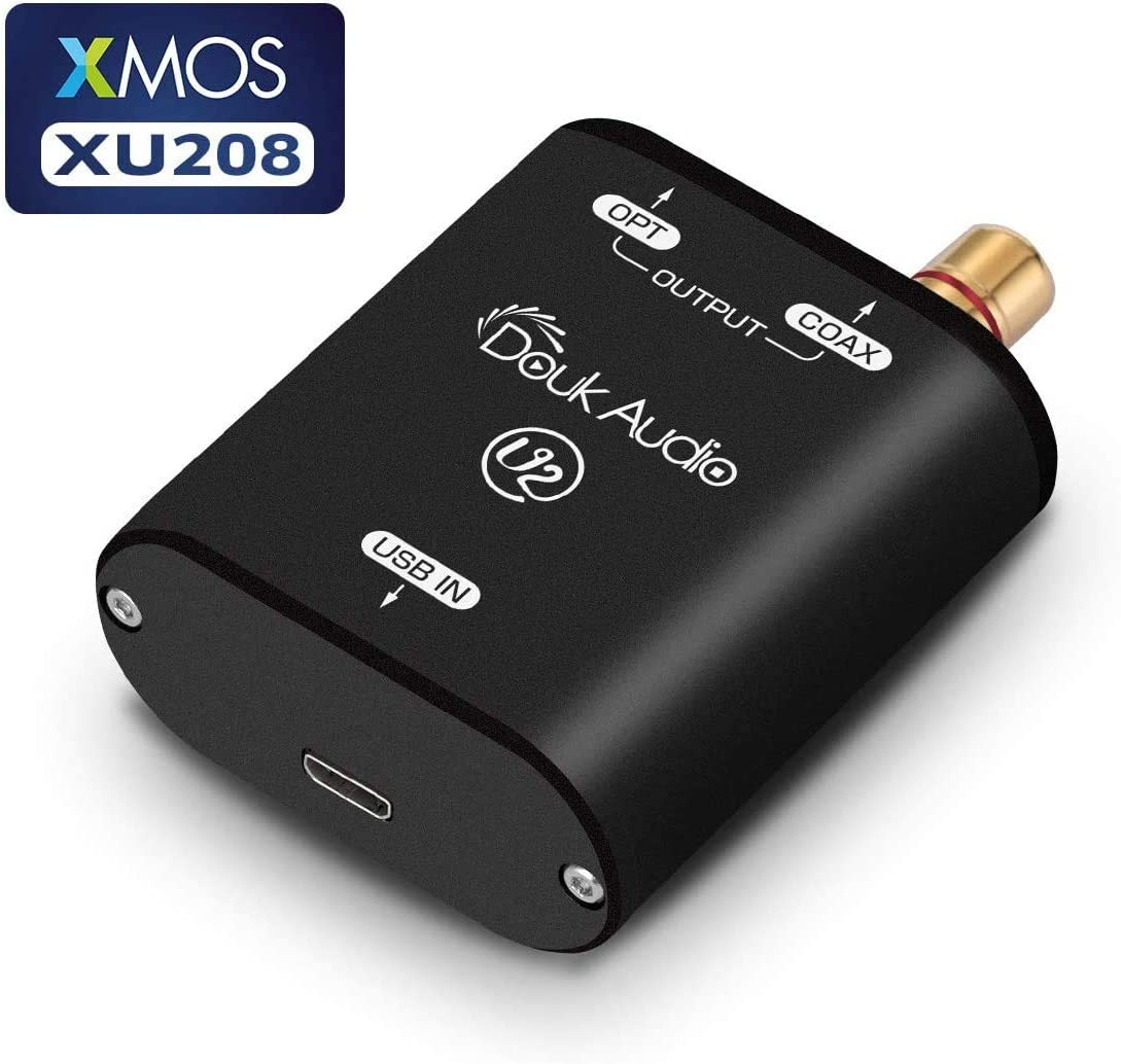 Douk Audio USB Converter XMOS XU208 Digital Interface TOSLINK Coaxial DOP SPDIF Adapter DSD64 PCM192Khz