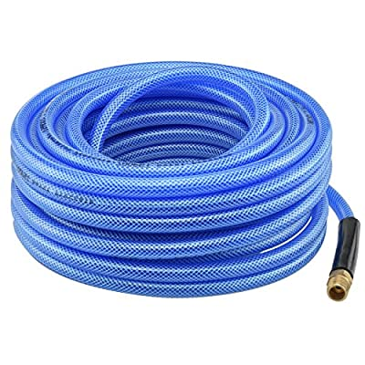 "Air Compressor Parts 50' ft Air Hose 1/4"" inch Ironflex Braided Polyprothane 200 PSI"