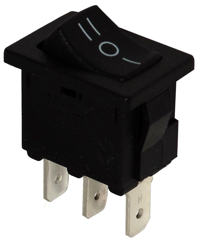 Negro C10764 AERZETIX 3 posiciones Interruptor conmutador basculantes de boton SP3T ON-OFF-ON 10A//250V 10A//28V
