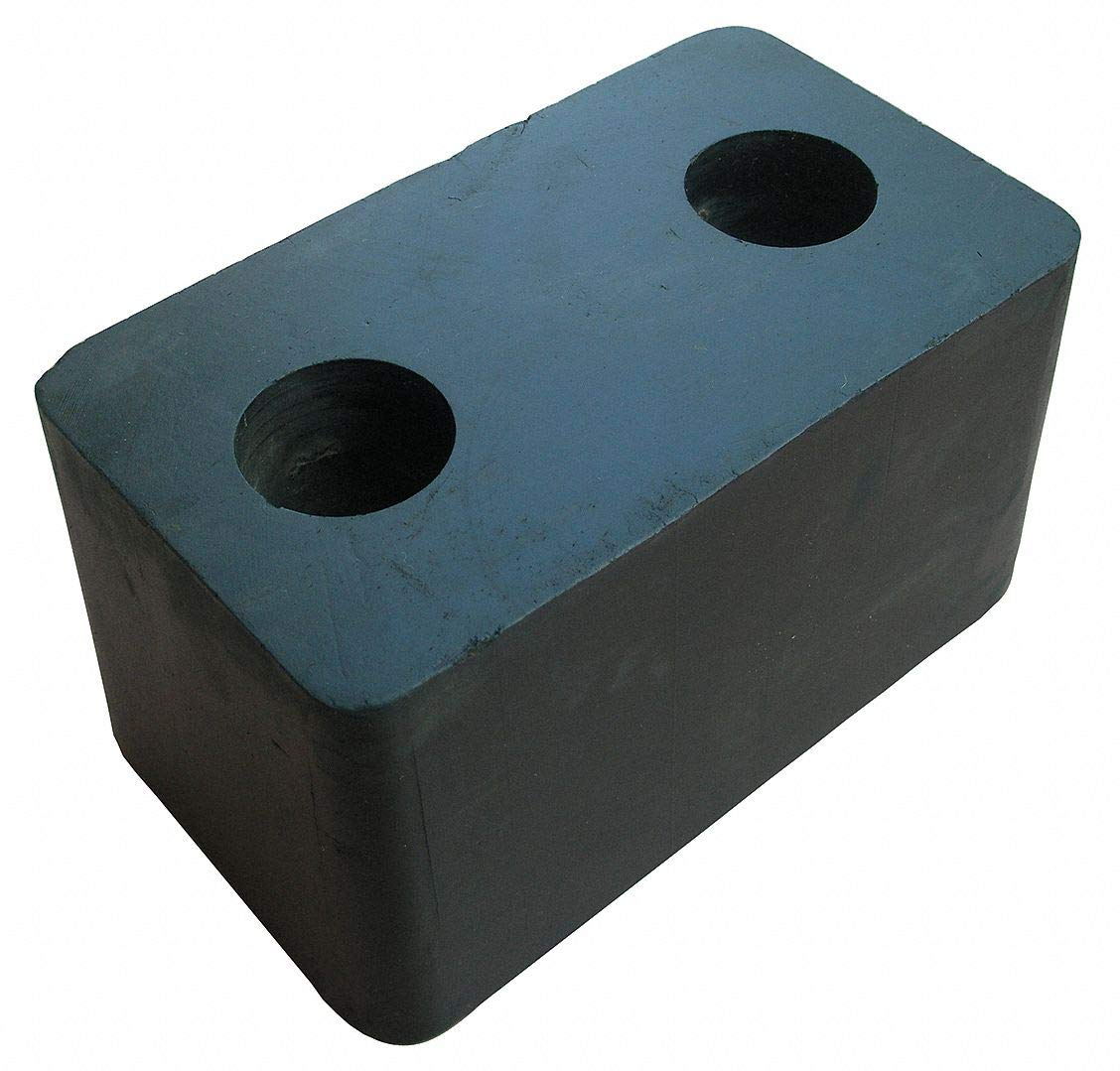 Rectangular Rubber Dock Bumper, 6-1/4''H x 3-1/2''W x 3-5/8''D