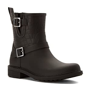 Sam Edelman Women's Keigan Rain Shoe, Black, 8 M US