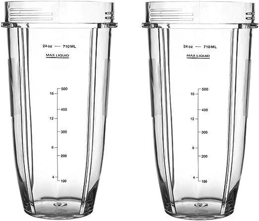 Wadoy - Vaso mezclador de 24 onzas para licuadora Nutri Ninja de ...