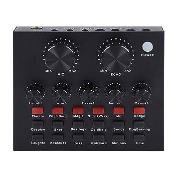 HWZDQLK Mezclador de audio Tarjeta de sonido externa USB ...