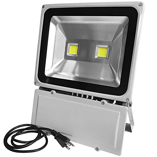 GLW Super Bright 100W LED Flood Light,IP65 Waterproof Security Lights,Outdoor Landscape Floodlight,Double LEDs Daylight White (5000-6000K) Wall Lights,Stage Lights,10150lm 600W Halogen Bulb Equivalent