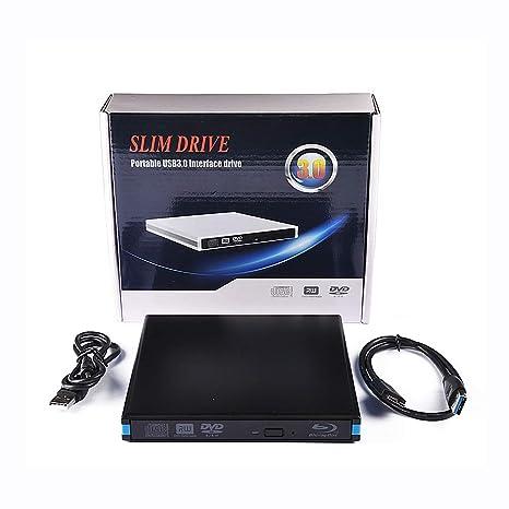 ZUKABMW Unidad Externa BLU Ray, USB 3.0 portátil grabadora de CD ...