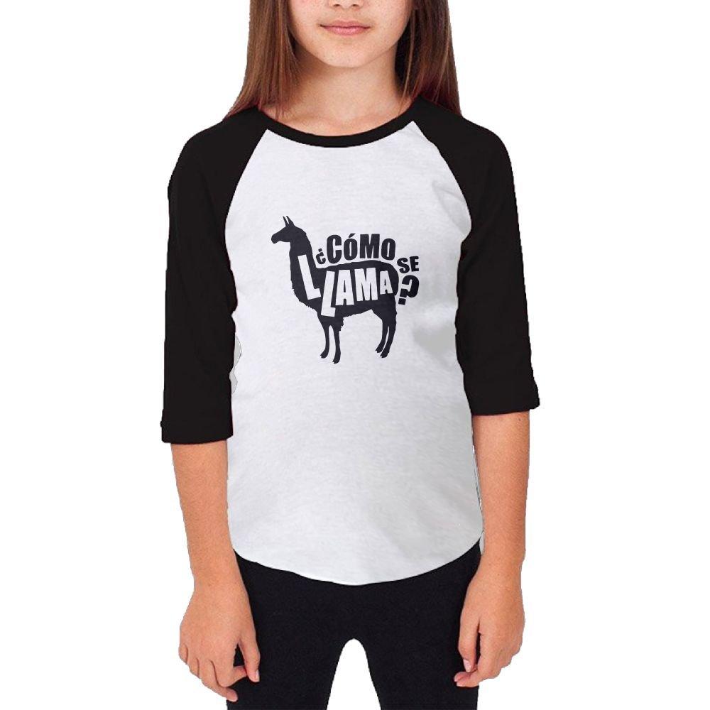 Jidfnjg Funny Como Se Llama RD Kids 3//4 Sleeves Raglan T Shirts Child Youth Slim Fit Sports Uniforms