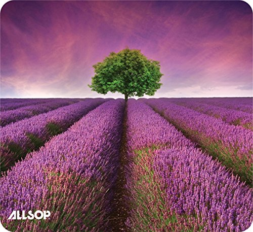 Allsop Nature's Smart Mouse Pad 60% Recycled Content, Lavender Field (31422)