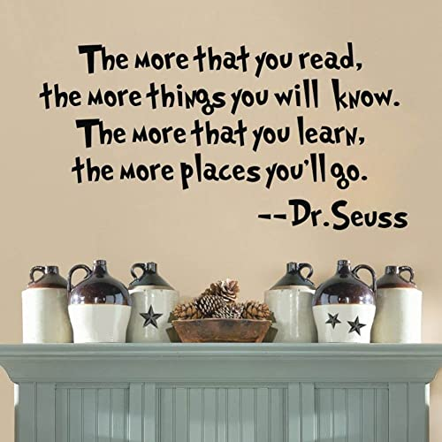 Discountfan Dr Seuss The More That You Read You Know Saying Quote Home  Decor Vinyl Decals