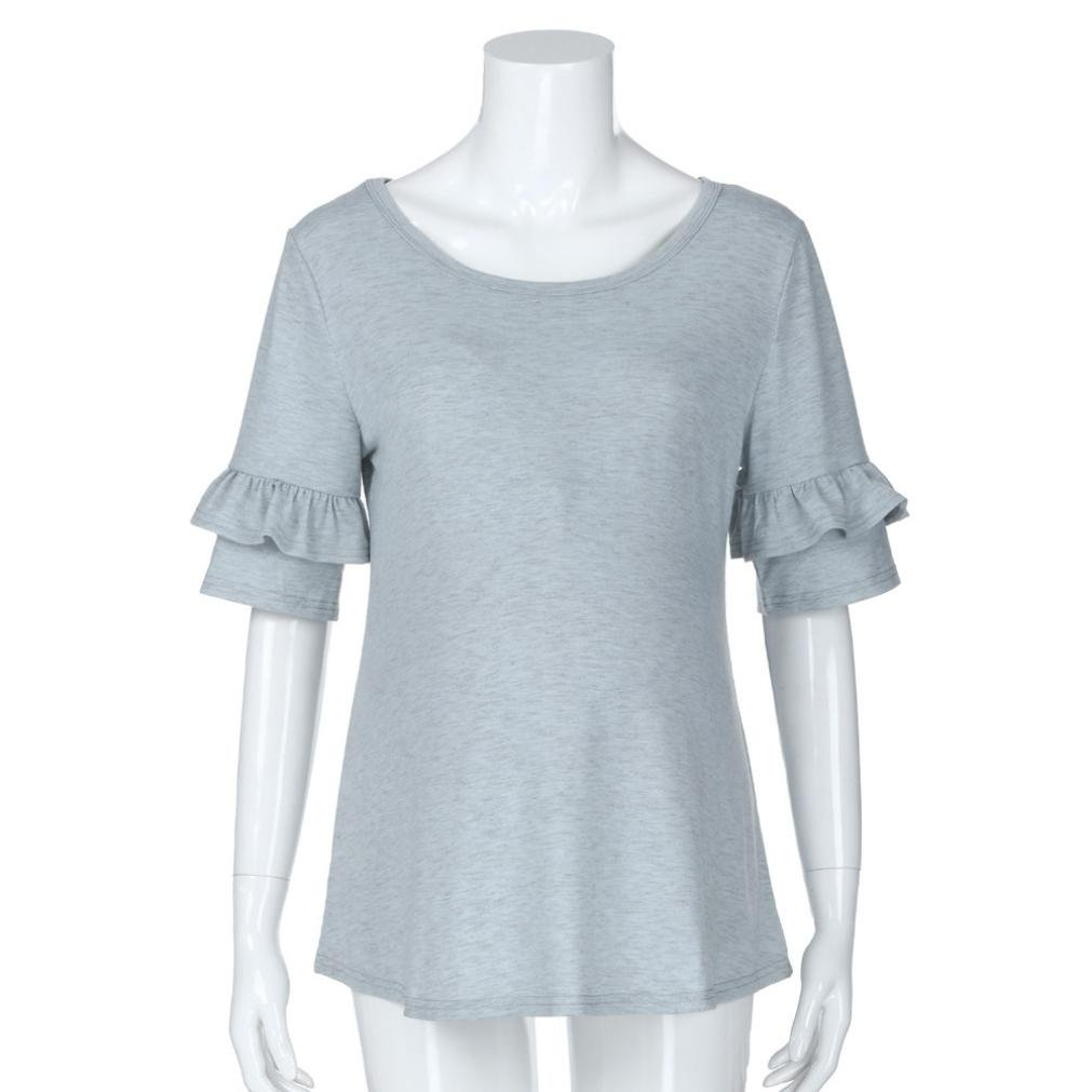 59eccbdd7 ... Premama Camisa de Manga Corta Para Mujer Ampliar imagen