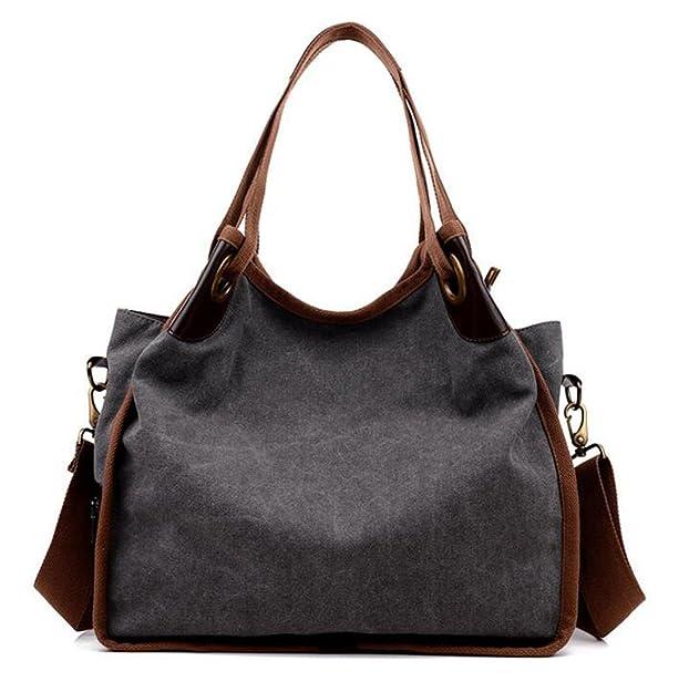 Women's Casual Canvas Handbag Travel Tote Bag Shoulder Bag