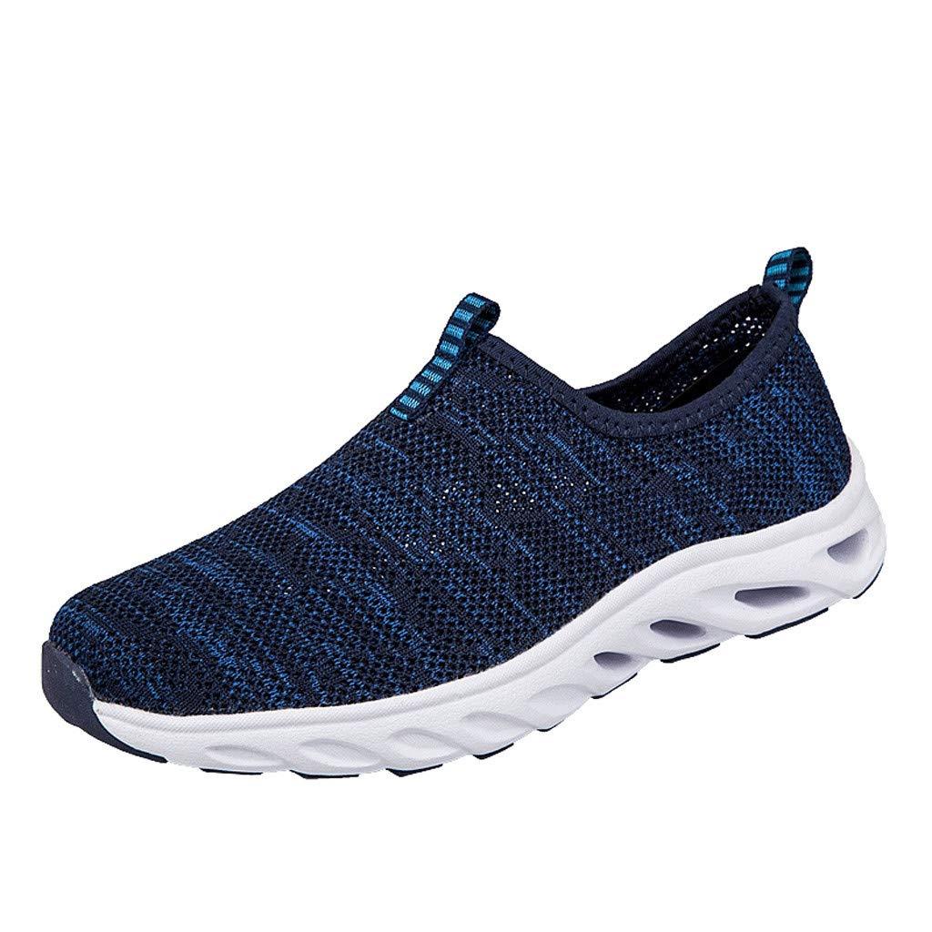 SHE.White Herren Schuhe Atmungsaktiv Sneaker Mesh F/ür Von Couples Middle Und Old Slip On Running Netzschuhe Kletterschuhe