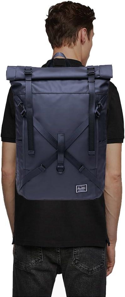 KAUKKO Stylish Oxford Fabric Backpack Travel Rucksack lightweight Hiking Bag Satchel