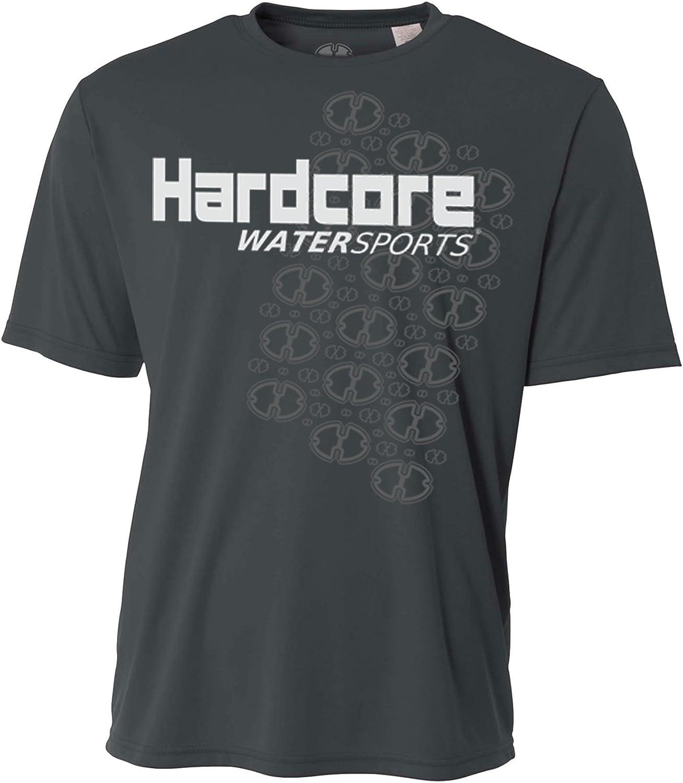 Hardcore Water Sports Mens Rash Guard Surf Swim Shirt SPF Protection Loose Fit