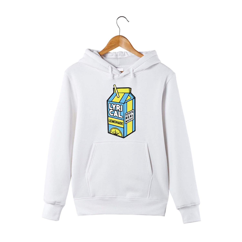 Sonjer Funny Hoodie for Men//Women Lyrical Lemonade Pullover Hooded Sweatershirt White Xs