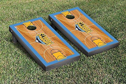 Denver Den Nuggets NBA Basketball Regulation Cornhole Game Set Basketball Court Version by Victory Tailgate