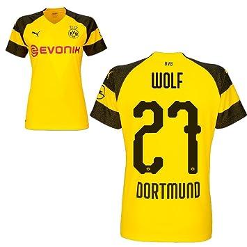 pretty nice 33281 e1d17 Puma BVB Borussia Dortmund Fußball Damen Home Trikot 2018 2019 Frauen  Heimtrikot mit Spieler Name