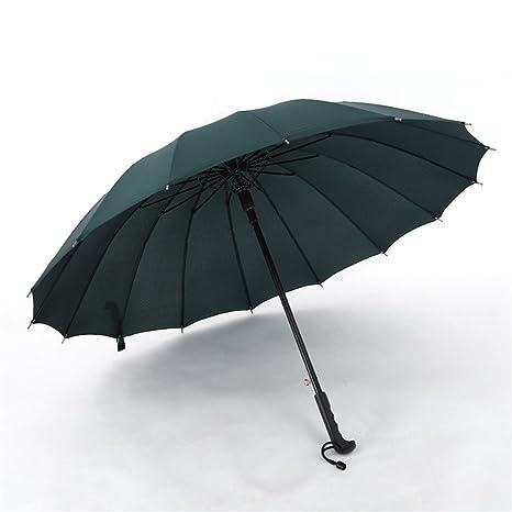 Guoke Hombre De Paraguas Con Impermeable De Largo Mango Largo Paraguas Paraguas Niñas Grandes Triple Extra